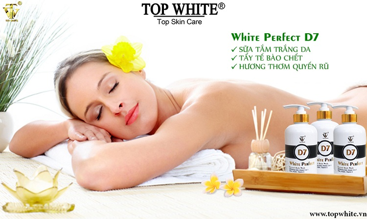 Top White D7 sữa tắm trắng da