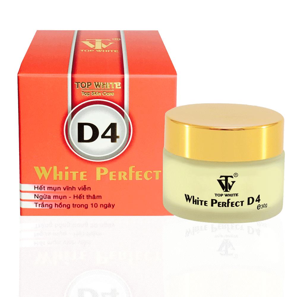 White Perfect D4 - Kem đặc trị mụn, sẹo thâm vĩnh viễn