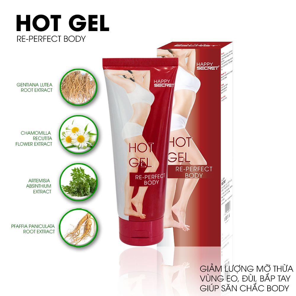 Top White Hot gel tan mỡ eo bụng đùi bắp tay