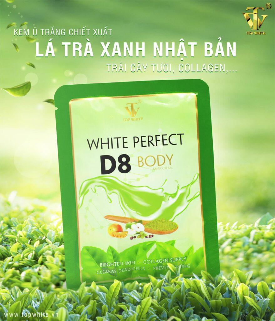 Top White Kem Tắm Trắng da White Perfect Body D8