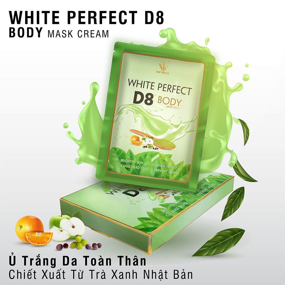 Top White Kem Tắm Trắng White Perfect Body D8