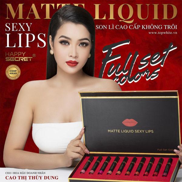 Son lì không trôi Matte Liquid Sexy Lips Full Set Color
