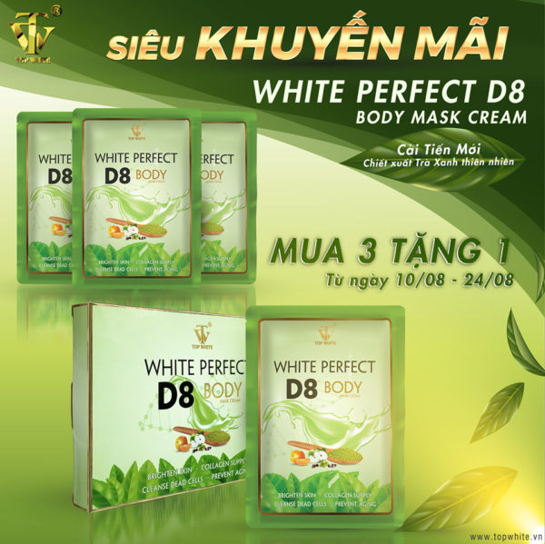 Kem ủ trắng White Perfect Body D8
