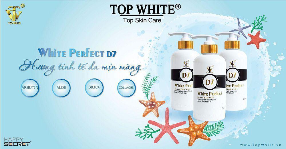 Top White sữa tắm trắng da